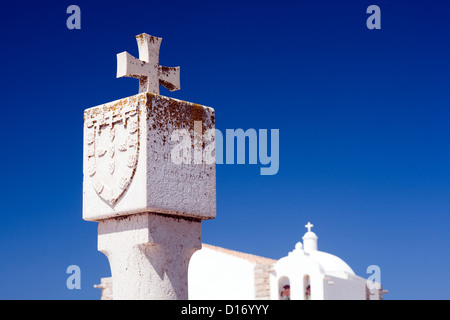 Sagres, Portugal, memorial stone in honor of Henry the Navigator - Stock Photo