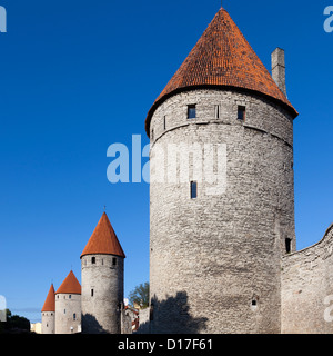 Medieval city wall with windows - Stock Photo