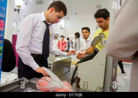 Dubai UAE United Arab Emirates U.A.E. Middle East Al Souqe Al Kabeer Carrefour Hyper Market shopping grocery store - Stock Photo