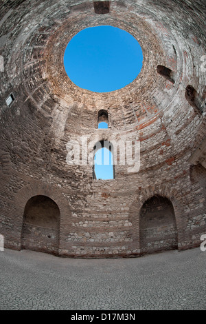 Cupola of the Diocletian's Palace in the city of Split on the Adriatic coast of Croatia. - Stock Photo