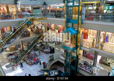Dubai UAE United Arab Emirates U.A.E. Middle East Deira Murshid Bazar bazaar shopping Naif Souq mall stores levels - Stock Photo