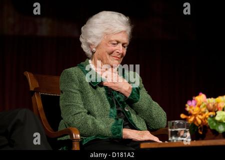 November 16th, 2012 Austin, Texas USA: Former First Lady Barbara Bush, during 'The Enduring Legacies of America's - Stock Photo