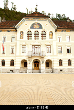 The Regierungsgebäude (Government / parliament building) in Vaduz, the capital of the Principality of Liechtenstein. - Stock Photo
