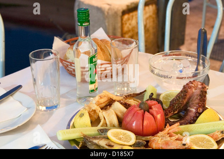 Ouzo and octopus greece stock photo royalty free image for Apollon greek and european cuisine