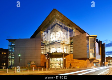 Bridgewater Hall Manchester City Centre at night - Stock Photo