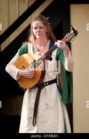 Abby Green Irish Medieval Folk Music at The Maryland Renaissance Festival 2012, Crownsville Road, Annapolis, Maryland. - Stock Photo