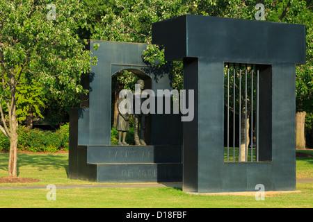 Memorial in Kelly Ingram Park,Historic 4th Avenue District,Birmingham,Alabama,USA - Stock Photo