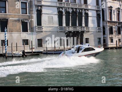 Carabinieri police boat - Stock Photo