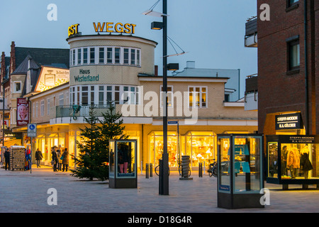 Sylt Westerland blue hour - Stock Photo