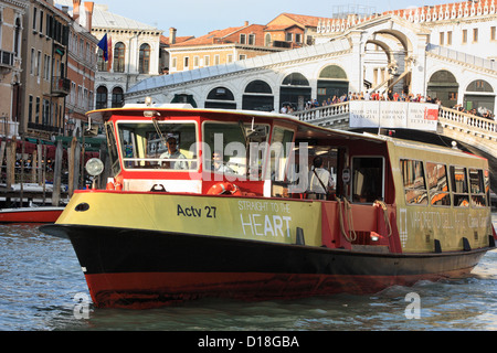 Vaporetto dell'Arte - Sightseeing boat - Stock Photo