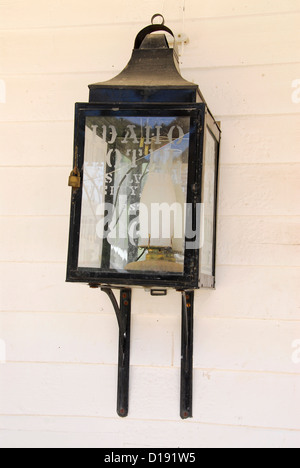Old kerosene lamp in the historic mining town of Silver City, Idaho. - Stock Photo