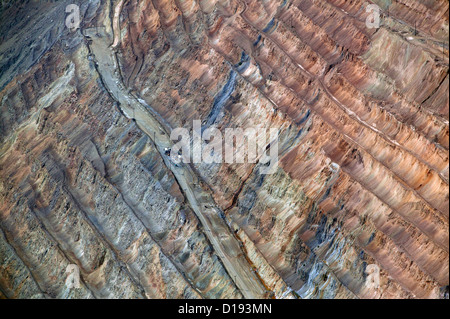 aerial photograph Bingham Canyon Open Pit Copper Mine, Utah - Stock Photo