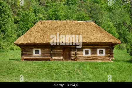 The old traditional ukrainian rural house - Stock Photo