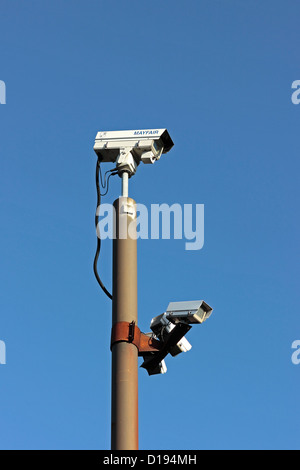 CCTV Cameras Back Micklegate Car Park Selby - Stock Photo