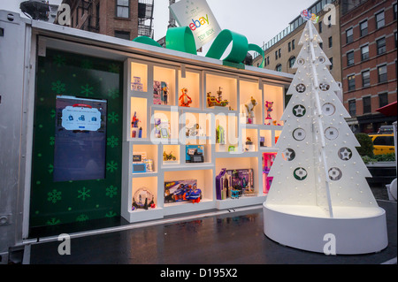 The online marketer, eBay, opens the eBay Toy Box, a pop-up store in the Meatpacking District in New York - Stock Photo