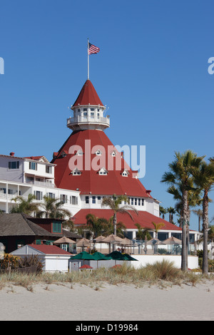Hotel del Coronado in San Diego, California, USA. - Stock Photo