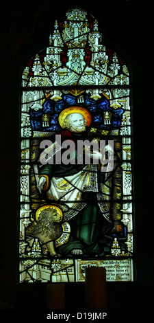 Stained glass window depicting st. mark - Stock Photo