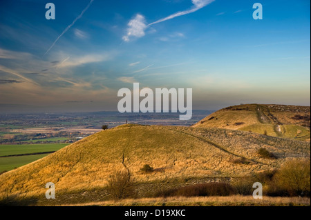 Ivinghoe Beacon at the end of The Ridgeway National Trail, Buckinghamshire, UK - Stock Photo
