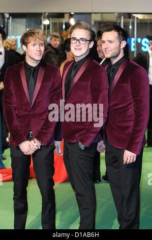 McFly attends the 65th Royal Film Performance and UK premiere of THE HOBBIT: AN UNEXPECTED JOURNEY on 12/12/2012 - Stock Photo