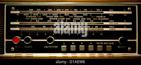 Dec. 12, 2012 - Culver City, CA, US -  A multi-band radio on display at The Wende Museum, which houses the world's - Stock Photo
