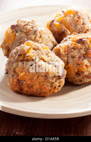 Hazlenut and Apricot stuffing balls - Stock Photo