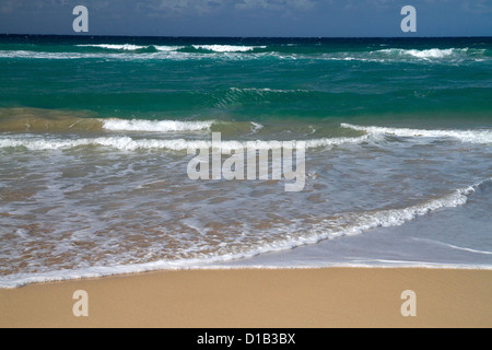 Polihale Beach and State Park located on the western side of the island of Kauai, Hawaii, USA. - Stock Photo