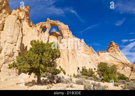 Grosvenor Arch, Cannonville, Grand Staircase-Escalante National Monument, Utah, United States of America, North - Stock Photo