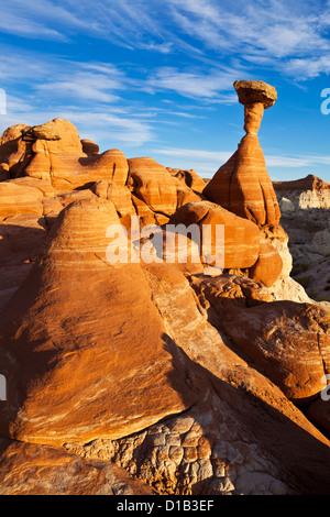 Toadstool Paria Rimrocks near Kanab, Grand Staircase-Escalante National Monument, Utah, USA - Stock Photo