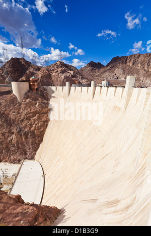 the Hoover hydro-electric power generating station dam Arizona United States of America - Stock Photo