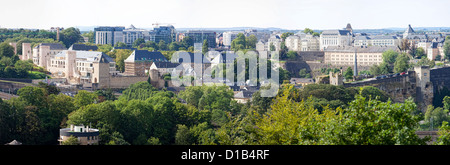 View from the Kirchberg-plateau, Luxembourg, Europe - Stock Photo