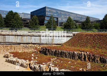 European Commission, Jean Monnet Building, European quarter, Kirchberg plateau, Luxembourg City, Europe - Stock Photo
