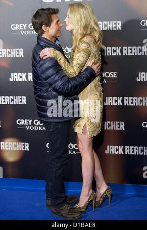 Dec. 13, 2012 - Madrid, Spain - Actor TOM CRUISE and actress ROSAMUND PIKE attend the Spanish Premiere of 'Jack - Stock Photo