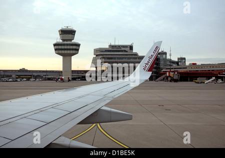 Berlin, Germany, View of the Berlin-Tegel Airport - Stock Photo