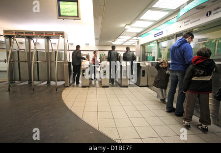 passengers get off a metro train in guangzhou china. Black Bedroom Furniture Sets. Home Design Ideas