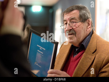 Nobel Prize laureate in Literature Guenter Grass (R) receives the award'2012 European of the Year' at Guenter Grass - Stock Photo