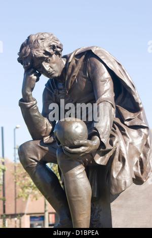 Hamlet statue Stratford upon Avon Warwickshire England U - Stock Photo