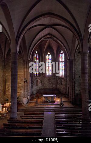 Eglise de Notre Dame, 14 century church, in St Jean Pied de Port, France. - Stock Photo