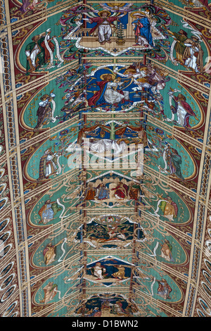 Detailed view of part of the ceiling in Ely Cathedral - Stock Photo