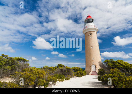 Lighthouse of Cape du Couedic, Australia in the Flinders Chase National Park on Kangaroo Island. Australia, South - Stock Photo