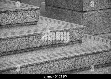 Steps leading towards the entrance of a building - Stock Photo