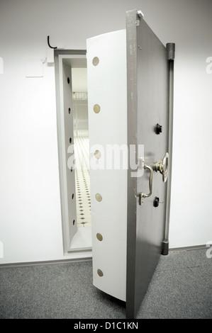 old bank vault door - Stock Photo