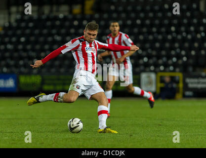 15.12.2012 Nottingham, England.  Brentford's Harlee Dean in action during the League One game between Notts County - Stock Photo