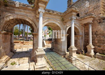 View of Hadrian s Gate Antalya Turkey Stock Photo, Royalty ...