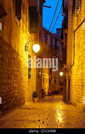 The Old Town in Sibenik, Croatia, Europe - Stock Photo