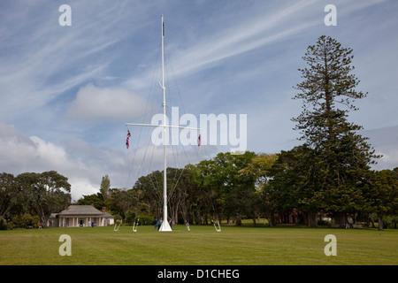 Waitangi Treaty House, Paihia, north island, New Zealand. - Stock Photo