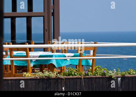 Restaurant Scenery in Nessebar, Bulgaria