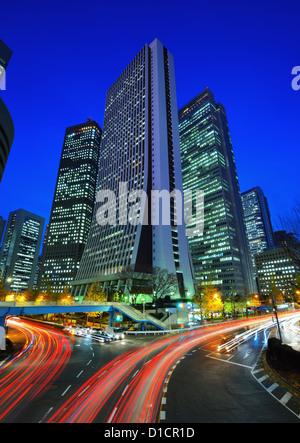 Office buildings in Shinjuku, Tokyo, Japan. - Stock Photo