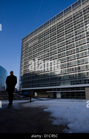 Berlaymont building, headquarters of the European Commission in Brussels - Stock Photo