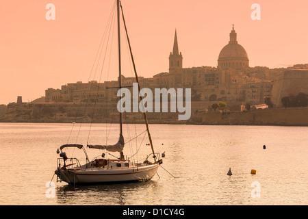 Malta, Skyline of Valletta - Stock Photo