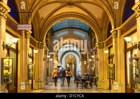 Austria, Vienna, Freyung Passage at Palais Ferstel building - Stock Photo